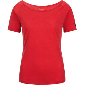 super.natural Essential Scoop Neck Tee 140 Women Clove Red